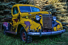 Sundance Yellow   ......HTT! (jackalope22) Tags: htt truck camptrip sundance yellow patina rust international