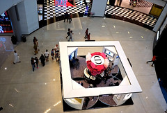 Dior display (Marian Pollock (Weiler)) Tags: dior dubai mall display people crowd reflections shops design