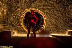 Steel / wire Wool Spinning - Dark Angel (Rick Drew - 20 million views!) Tags: steel wire wool spinning fire hot sparks sparky orange spiral dark demon angel wings circle ring