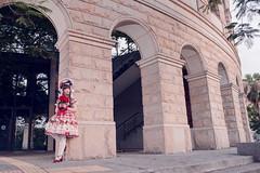 SDF_9661 (SendoFu) Tags: bonnet lolita ボンネット エプロン風スカート blouse bl ブラウス headbow kc カチューシャ bnt 蕾絲 維多利亞 jsk op onepiecedress ワンピース jumperskirt ジャンパースカート nop lolitafashion 蘿莉塔 蘿莉塔時裝 ロリータ・ファッション sweetlolita classicallolita