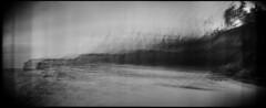 Headland #5 (LowerDarnley) Tags: holga holgarama panorama incamerapanorama malpeque pei princeedwardisland headland cliffs trees beach ocean