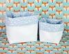 Cestinho corino branco e tecido azul com lua e estrelas (vojacy) Tags: cestinho decoração quartodobebê quartoinfantil organização quartodecriança feitoàmão decoraçãoinfantil lua estrela
