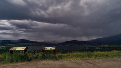 Stormfront over Lake Dillon, 2015.07.13 (Aaron Glenn Campbell) Tags: stormfront rain downpour sky clouds moody dramatic ominous summer 2015 roadtrip vacation frisco colorado lakedillon macphun luminar on1effects noiseless family sister nephew 16by9 crop sony a6000 ilce6000 mirrorless rokinon 12mmf2ncscs wideangle primelens manualfocus emount statehighway9