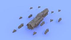 UNSC Infinity [Read description for more...] (BlackLinkin) Tags: lego ldd military halo unsc bluerender infinity edsc microspacetopia