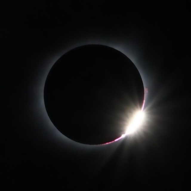 Aug. 21, 2017 Total Solar Eclipse 3rd Contact Diamond Ring
