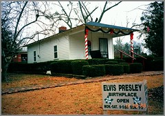 Elvis Presley Birthplace & Museum ~ Tupleo ~  Mississippi    ~ Vintage Photo (Onasill ~ Bill Badzo) Tags: leecounty ms mississippi blues preservation presley birthplace tupleo museum elvis elvispresley vintage photo old nrhp historic rocknroll hips swing musician music trail onasill bungalow architecture style home house chapel assembly god church building vernon gladys mother shotgun tornado performer singer icon industry records dance jive christmas decorations theking
