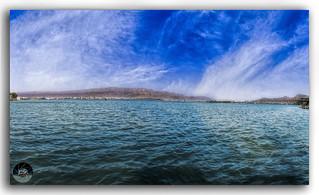 Panorama of beautiful Ana Sagar Lake in Ajmer, Rajasthan, India