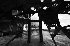 Teufelsberg, Berlin (BMcIvr) Tags: teufelsberg berlin spy espionage man made hill west forces nsa us street art decay black white contrast devils mountain grunewald station dome tower holes patterns pattern worn benmciver ben mciver photography