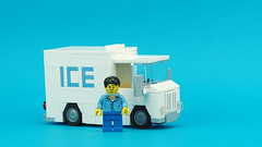 Ice Delivery Truck (de-marco) Tags: lego moc city town truck car 5stud