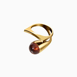 Cherry Amber Curved Ring thumbnail