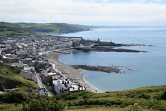 Aberystwyth from Constitution Hill (karen leah) Tags: aberystwyth landscape seascape sea panorama
