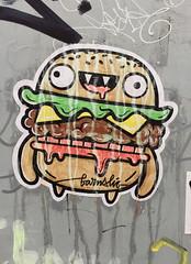 Monsterburger (svennevenn) Tags: barnslig burgers hamburgers monsterburger stickers gatekunst streetart bergen hamburgere burgere