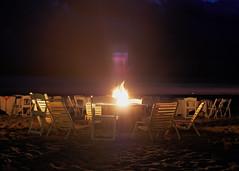 Conjuring Spirits (Steve Bosselman) Tags: fire flame beach night