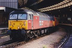 47768 Bristol Temple Meads 30.06.97 (jonf45 - 5 million views -Thank you) Tags: trains railway br british rail diesel locomotive class 47 brush 4 res 47768 bristol temple meads 1997