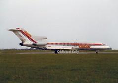 Club Air                                  Boeing 727                                    EI-BUI (Flame1958) Tags: clubair clubairb727 boeing727 boeing b727 727 eibui dub eidw dublinairport 0687 1987 scan print