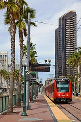 San Diego, California, October 2013 (David Rostance) Tags: gaslampquarter trolley tram eharbordrive sandiego california mts