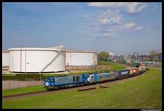 RTB Cargo V203, Pernis 31-03-2017 (Henk Zwoferink) Tags: vondelingenplaat zuidholland nederland nl cargo pernis henk zwoferink haven rotterdam rtb rurtalbahn v203 186 428 bombardier traxx vossloh g2000