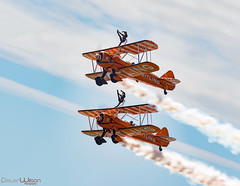 Walking the wing (peterwilson71) Tags: planes flight airshow skys vapour girls wings pilot fast canon7d brave clever