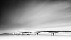 Infinite Contemplation mono (frank_w_aus_l) Tags: zeelandbrücke netherlands bridge longexposure nikon d810 architecture infinity infinite contemplation monochrome bw sw noiretblanc colijnsplaat zeeland niederlande nl