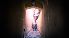 Strada Sforii - Brasov, Romania - Color street photography (Giuseppe Milo (www.pixael.com)) Tags: streetphotography alley summer romania color mother brasov street sforii urban city faceless daughter yellow walking brașov județulbrașov ro onsale