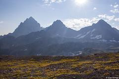 The Three Tetons (isaac.borrego) Tags: uploadedviaflickrqcom mountain peak alpine alaskabasin grandteton nationalpark wyoming canonrebelt4i jacksonhole mountains unitedstates america