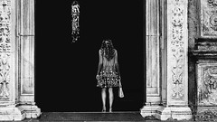 In the doorway (Gaia Rampon) Tags: blackwhite bnw nikkor streetphotography
