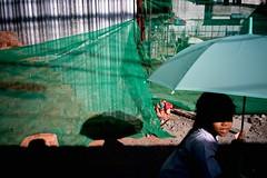 Green umbrella (jobChaowadee) Tags: repeat echo street thailand bangkok asph 28mm elmaritm leica a9 sony site construction green umbrella girl