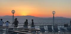 Sunset (BiggestWoo) Tags: sea deck people islands cruise rci royalcaribbean rhapsodyoftheseas sunset