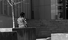SOLO - ALONE (jpi-linfatiko) Tags: bnw bn bw blackandwhite blancoynegro blanconegro blackwhite sigma1770 street nikon d5200 urban urbano urbana calle exterior people persona man hombre solitario
