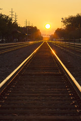 Sunset in Downers Grove (colinemcbride) Tags: sunset train tracks downers grove illinois chicago suburbs lens flare 24105 lseries canon golden hour glow