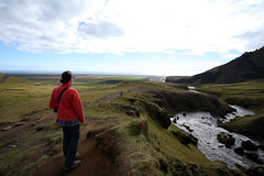 Iceland - Day 04 (Cody Stonerock) Tags: iceland ringroad goldencircle nature adventure outside outdoors getoutside summer summer2016 2016 september september2016 water waterfall canon canon1022 wideangle southiceland alex wife green skógafoss overlook mountain travel trip vacation