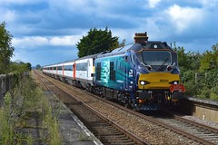 68034 + 68001 - Shippea Hill - 16/09/17. (TRphotography04) Tags: 68034 68001 each shippea hill anglia drs direct rail services colour ely norwich evolution rumble through working the express 2 1g02 1155 cambridgeshire