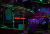 scary stuff (Chloe-Lee Photography) Tags: fair illuminous neon colour replace photoshop landscape lights long exposure rides neath rollercoaster pink green lightshop arcade portrait rain puddle reflection