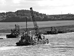 On the Mersey (llocin) Tags: eastham boat ship industry mersey refinery blackandwhite monochrome