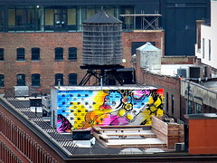 Rooftop art (PeterCH51) Tags: usa us newyork ny newyorkcity nyc city manhattan rooftop art rooftopart roof graffiti colourful cityscape citylife meatpackingdistrict peterch51 urban dailylife architecture creative