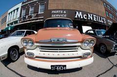 Parts & Service (dangr.dave) Tags: denton dentoncounty tx texas classiccar carshow artsautos artsandautos square car chevrolet truck chevy mcneills appliance 1958 parts service