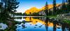 Sunset at Holly Lake (DF Shryock) Tags: grandtetonnationalpark hollylake sunset reflection ridge nikond5500 sigma1750mmf28 panorama
