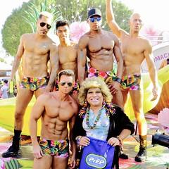 IMG_7897 (danimaniacs) Tags: hot sexy man guy male shirtless hunk tattoo shorts trunks smile beard scruff hat cap chicosangels friedalaye dragqueen pride gay banana