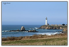 Pigeon Point Lighthouse, standing proud! (MEA Images) Tags: pigeonpointlighthouse pigeonpoint lighthouse lighthouses pescadero california ocean pacificocean tide cliffs rocks nature canon picmonkey