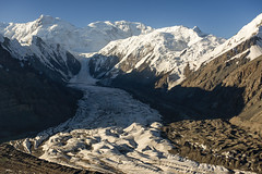 Inylchek glacier and Khan Tengri (Joost10000) Tags: landscape mountain mountains tienshan mountainside glacier ice snow valley sky rock alpine wild wilderness nature natur outdoors epic beauty asia central centralasia kyrgyzstan china landschaft aerialphotography aerial ruby3 ruby10 ruby15