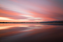 Pink Sky (mclcbooks) Tags: sunrise dawn daybreak morning landscape lake longexposure le lakechatfield colorado chatfieldstatepark clouds reflections