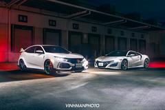 Honda Civic Type-R & NSX (VinhmanPhoto) Tags: honda nsx fk8 typer civic vinhmanphoto vinhman jdm melbourne australia automotive automotivephotography supercars