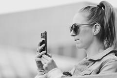 Interesting street people (vinnie saxon) Tags: d600 nikon nikoniste bokeh portrait blackandwhite cell phone girl candid street people