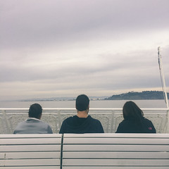 Into The Half Life (Jeremy Brooks) Tags: california ferry people sanfrancisco sanfranciscocounty strangers transit usa camera:make=apple camera:model=iphone camera:model=iphone5s iphone unitedstates us