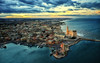 La Cattedrale sul Mare (Gio_ guarda_le_stelle) Tags: landscape seascape helicopter sky mare sea sunset italy nuvole tramonto vento breeze wind clouds cielo cattedrale thecathedralonthesea ruby15