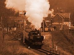 Highley Station Circa 2017 (SallyM_1976) Tags: gwrpannier7714 highley steam train shropshire