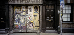 Spitalifields, London - 2017 (Mr Atrocity) Tags: film colour kodak portra horesman sw612 medium format 120 summer uk england 6x12 45mm graffiti spitalfields london fournier street victorian