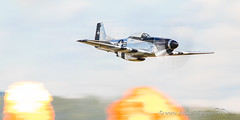 Westfield Air Show-15524 (Ryan von Linden) Tags: 2017 canon1dxii canon600mmf4isii massachusetts merlin northamericanaviation p51d quicksilver westfieldinternationalairshow worldwarii aerial air aircraft airshow aviation events fire flame flying mustang panning plane propblur pyrotechnics