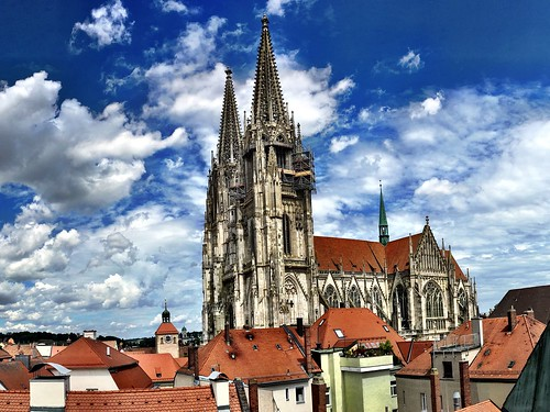 Above the roofs of Regensburg