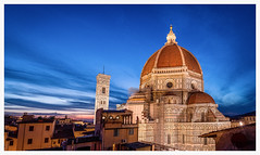 Il Duomo after sunset (Juhwie_Fotography) Tags: firenze florenz florence duomo dom church blue hour cityscape city travel roof pentax pentaxart k1 1530 sky ricohimaging tuscany toskana